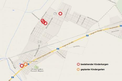 Verteilung der Kindergärten in Deutsch-Wagram